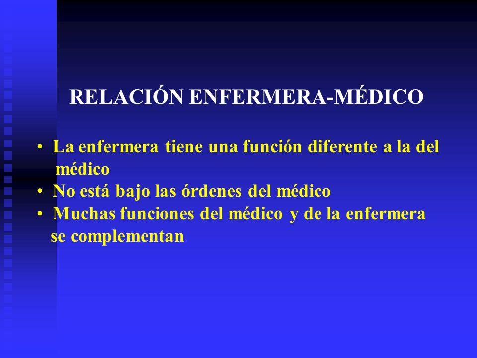 RELACIÓN ENFERMERA-MÉDICO