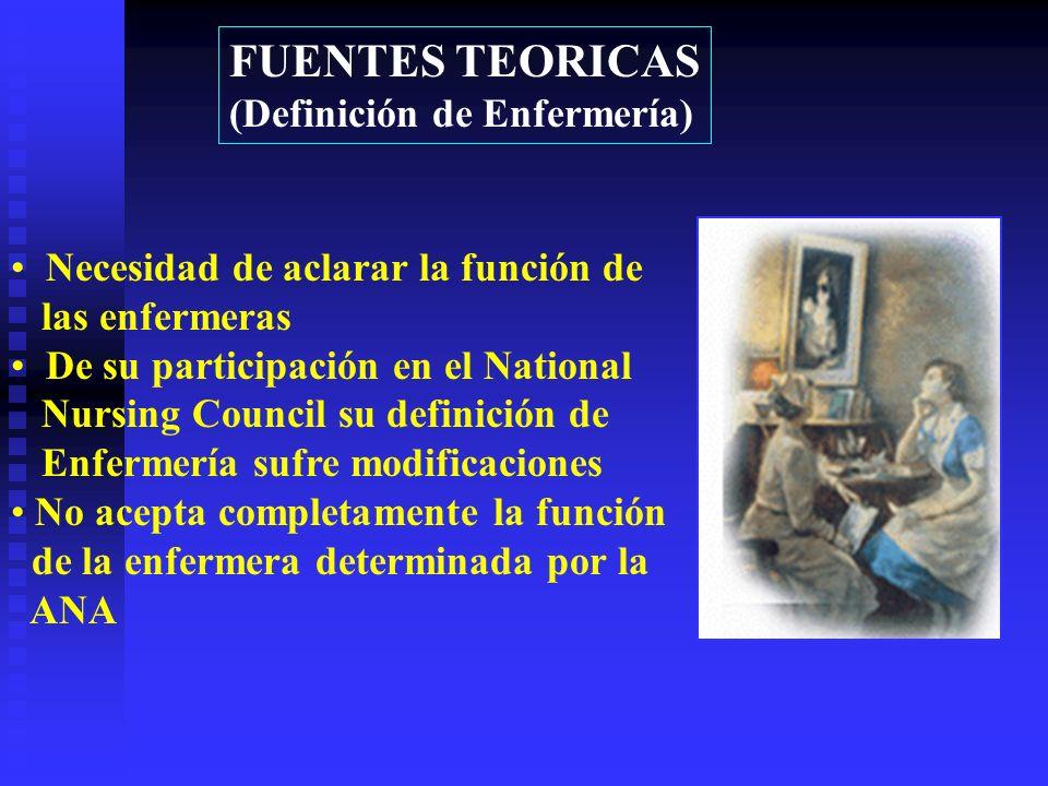 FUENTES TEORICAS (Definición de Enfermería)