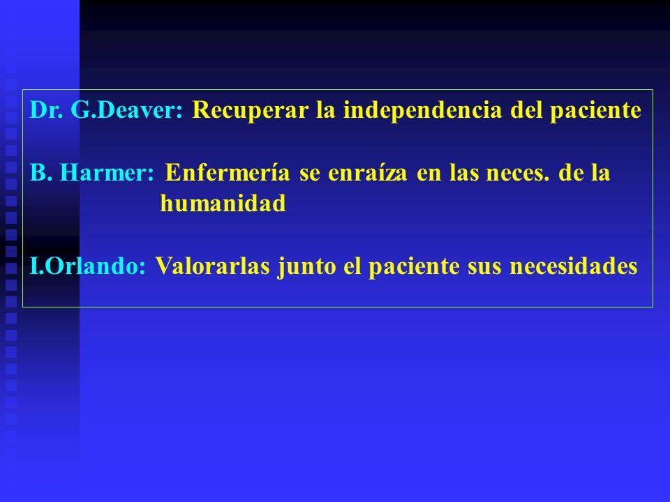 Dr. G.Deaver: Recuperar la independencia del paciente