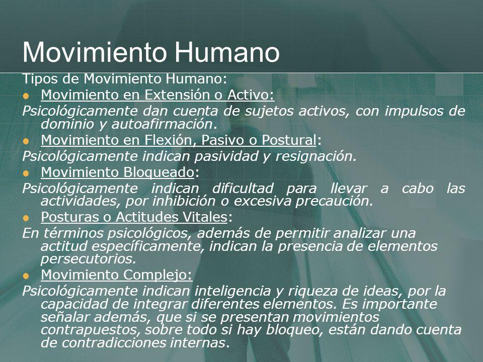 Movimiento Humano Tipos de Movimiento Humano: