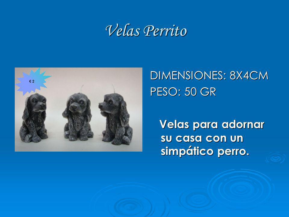 Velas Perrito DIMENSIONES: 8X4CM PESO: 50 GR