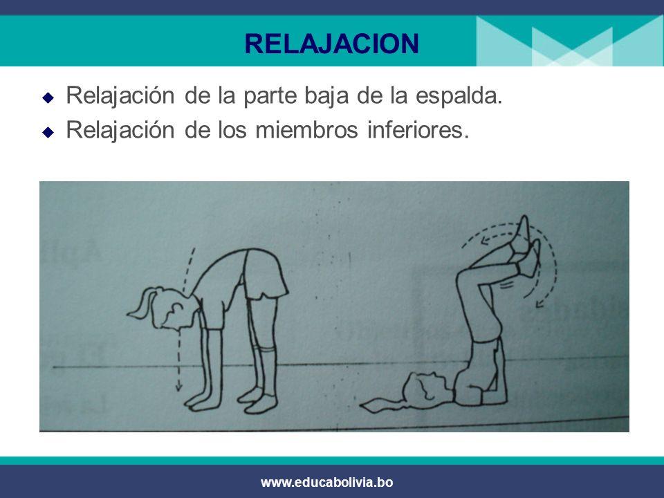 RELAJACION Relajación de la parte baja de la espalda.