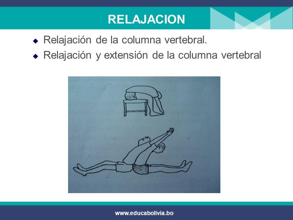 RELAJACION Relajación de la columna vertebral.