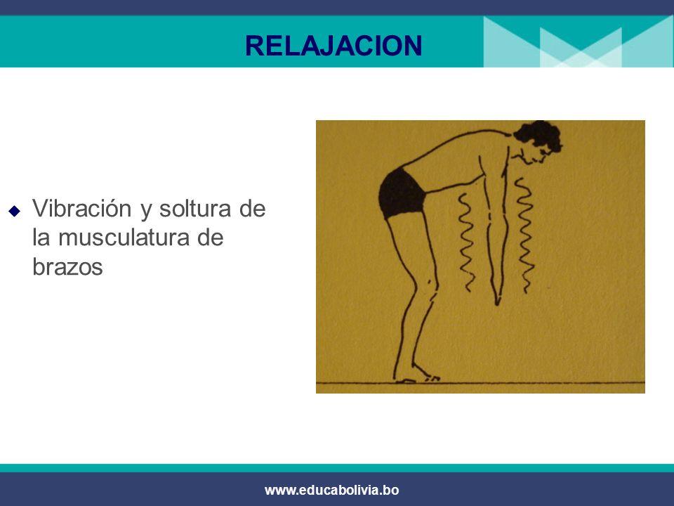 RELAJACION Vibración y soltura de la musculatura de brazos