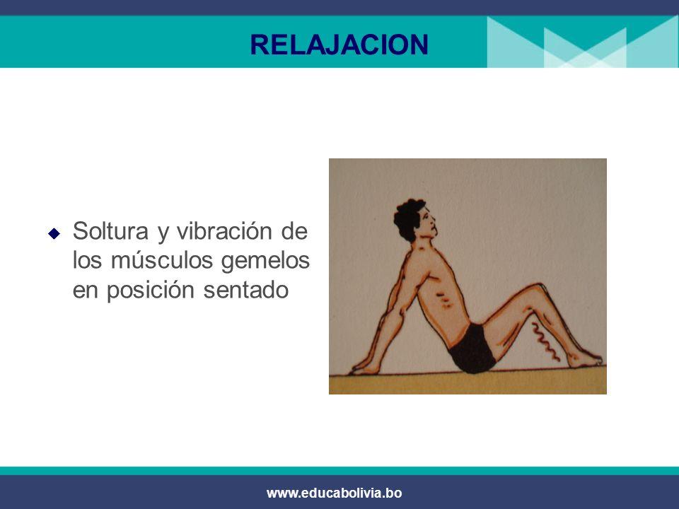 RELAJACION Soltura y vibración de los músculos gemelos en posición sentado www.educabolivia.bo