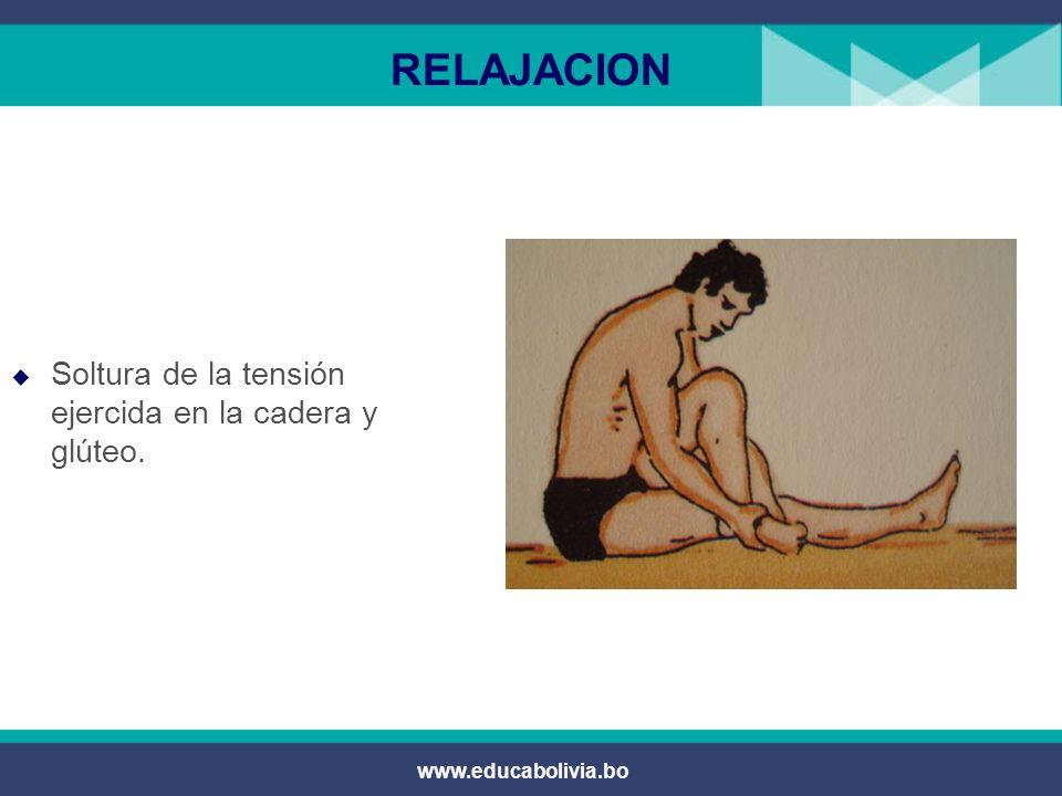RELAJACION Soltura de la tensión ejercida en la cadera y glúteo.