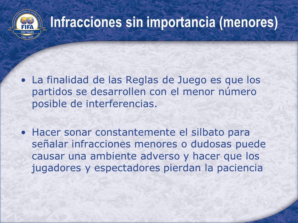 Infracciones sin importancia (menores)