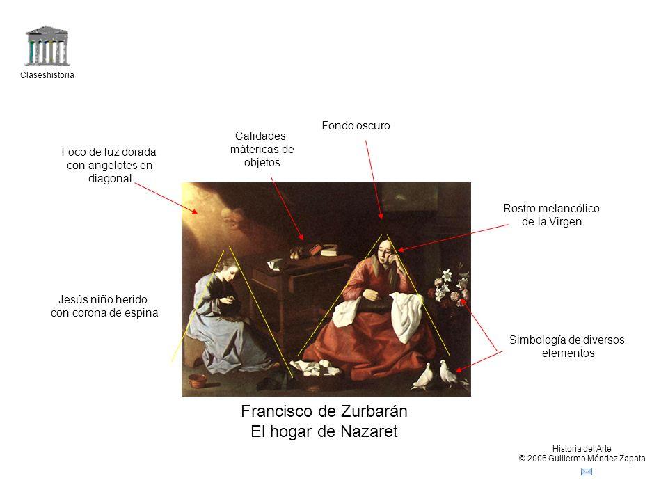 Francisco de Zurbarán El hogar de Nazaret Fondo oscuro Calidades