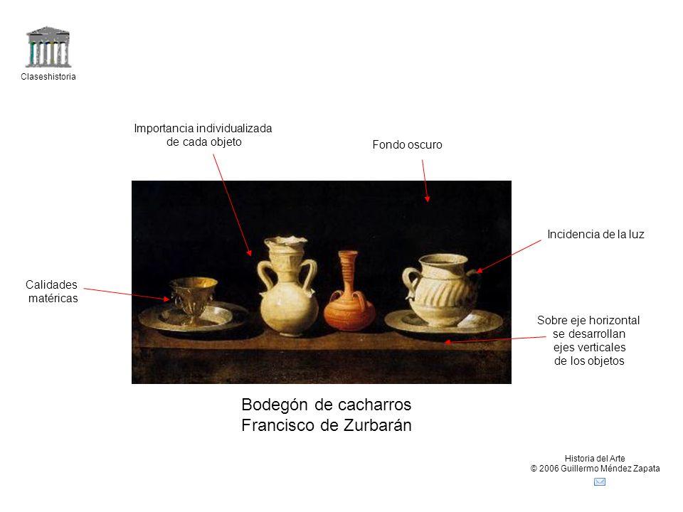 Bodegón de cacharros Francisco de Zurbarán Importancia individualizada