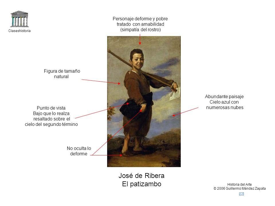 José de Ribera El patizambo Personaje deforme y pobre
