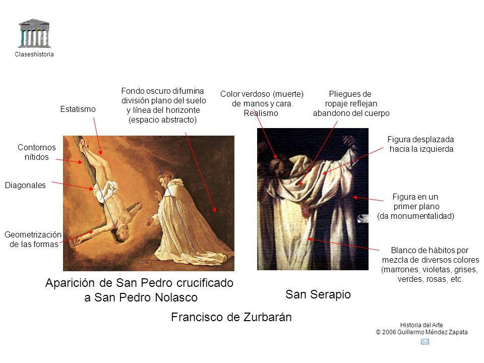 Aparición de San Pedro crucificado a San Pedro Nolasco San Serapio