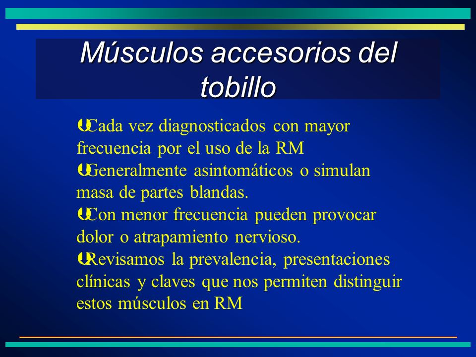 Músculos accesorios del tobillo