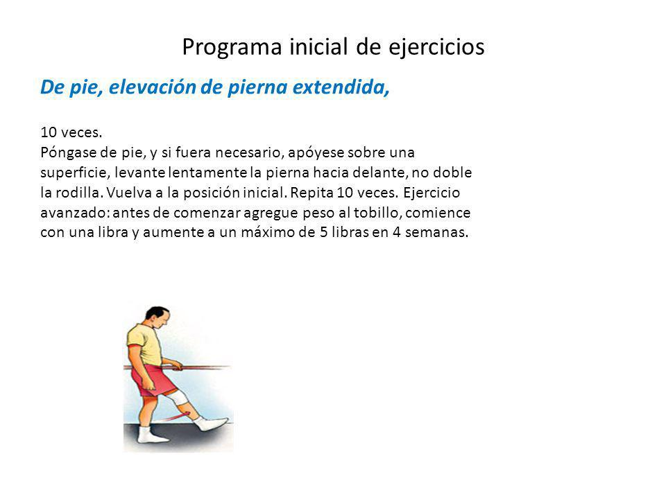 Programa inicial de ejercicios