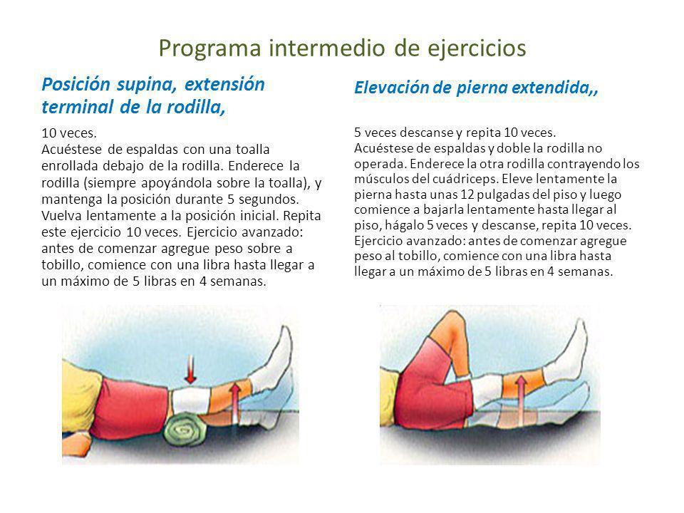 Programa intermedio de ejercicios