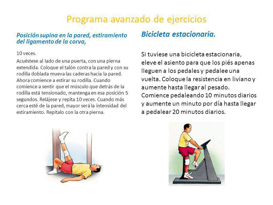Programa avanzado de ejercicios