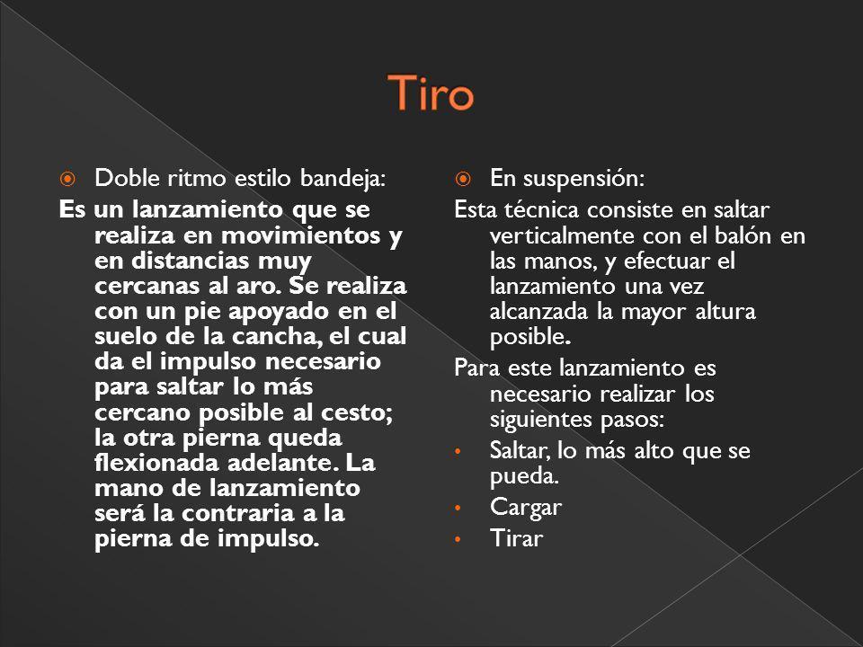 Tiro Doble ritmo estilo bandeja: