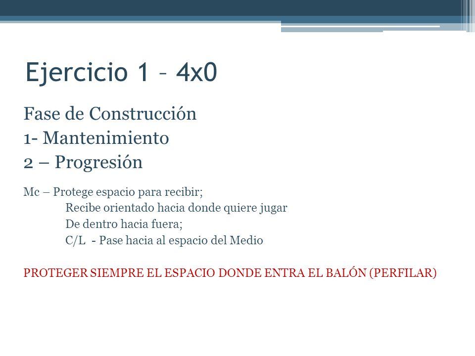 Ejercicio 1 – 4x0 Fase de Construcción 1- Mantenimiento 2 – Progresión