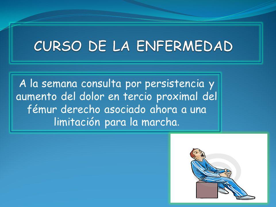 CURSO DE LA ENFERMEDAD
