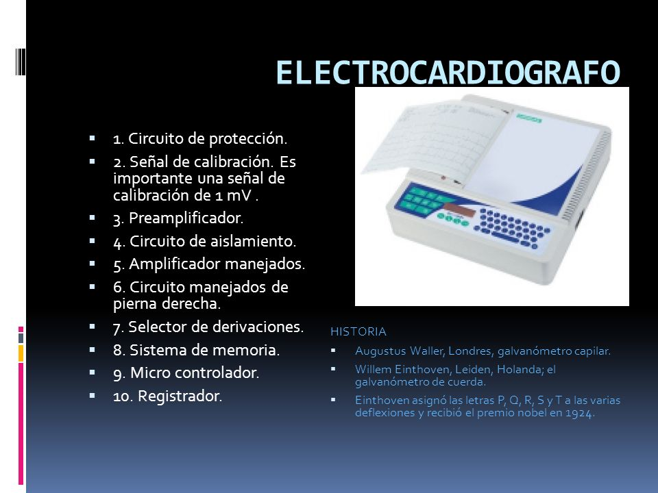 ELECTROCARDIOGRAFO 1. Circuito de protección.