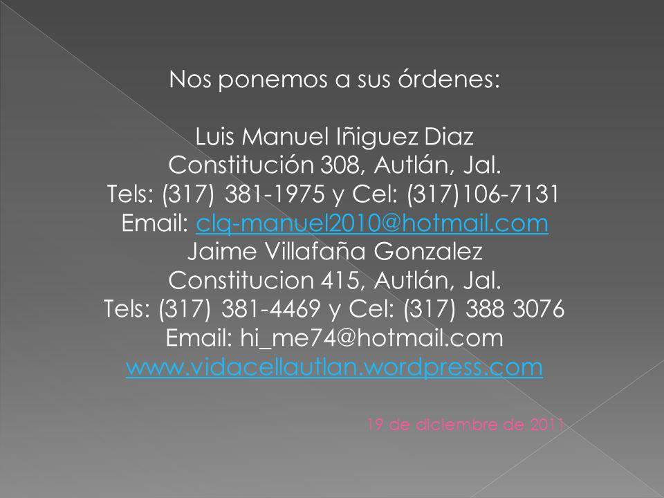 Nos ponemos a sus órdenes: Luis Manuel Iñiguez Diaz