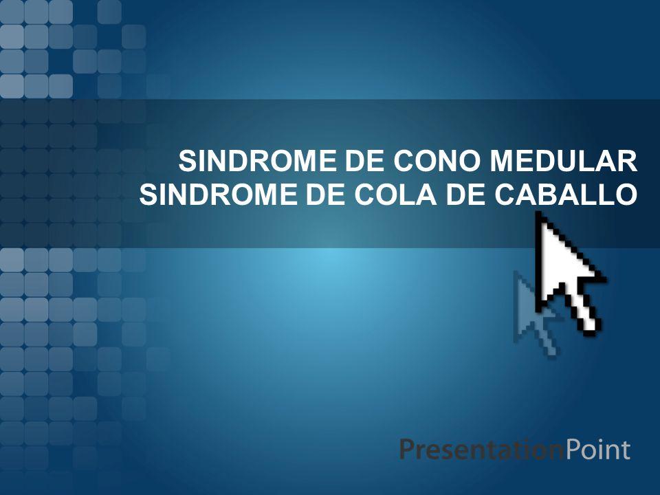 SINDROME DE CONO MEDULAR SINDROME DE COLA DE CABALLO