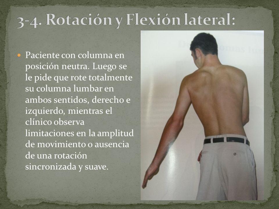 3-4. Rotación y Flexión lateral: