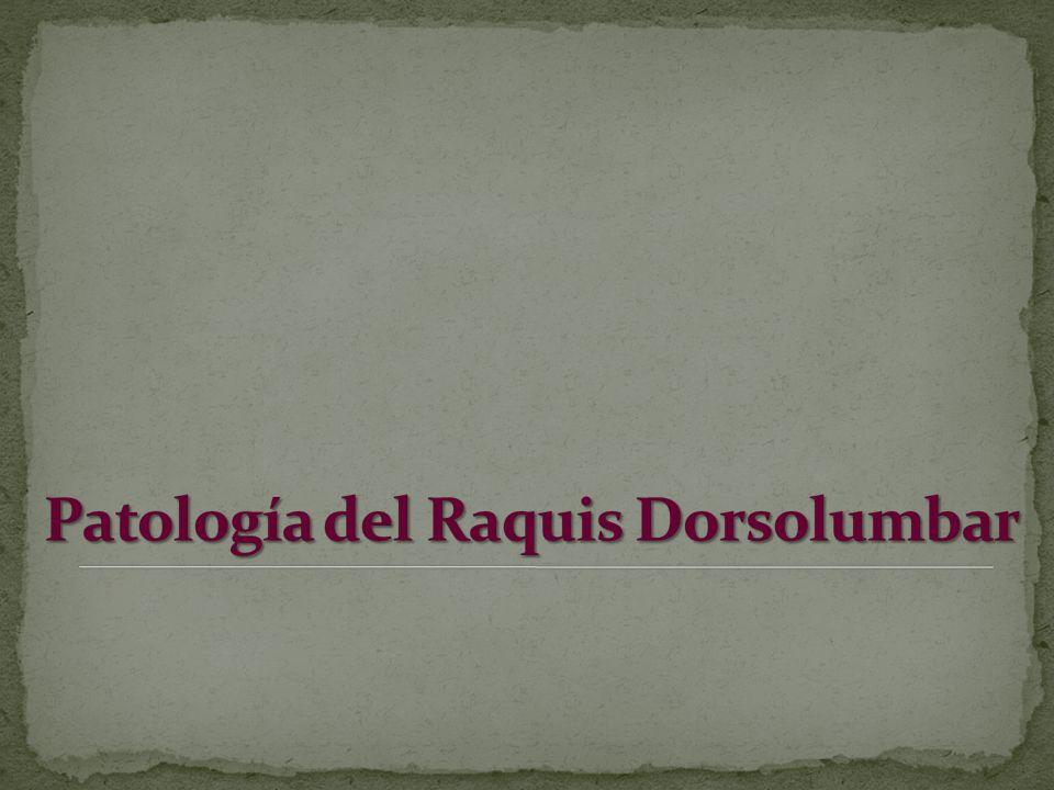 Patología del Raquis Dorsolumbar