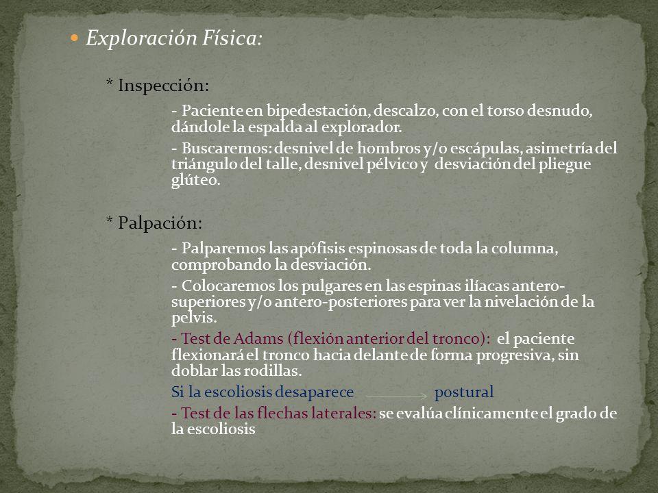 Exploración Física: * Inspección: