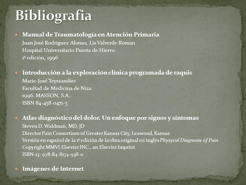 Bibliografia Manual de Traumatología en Atención Primaria
