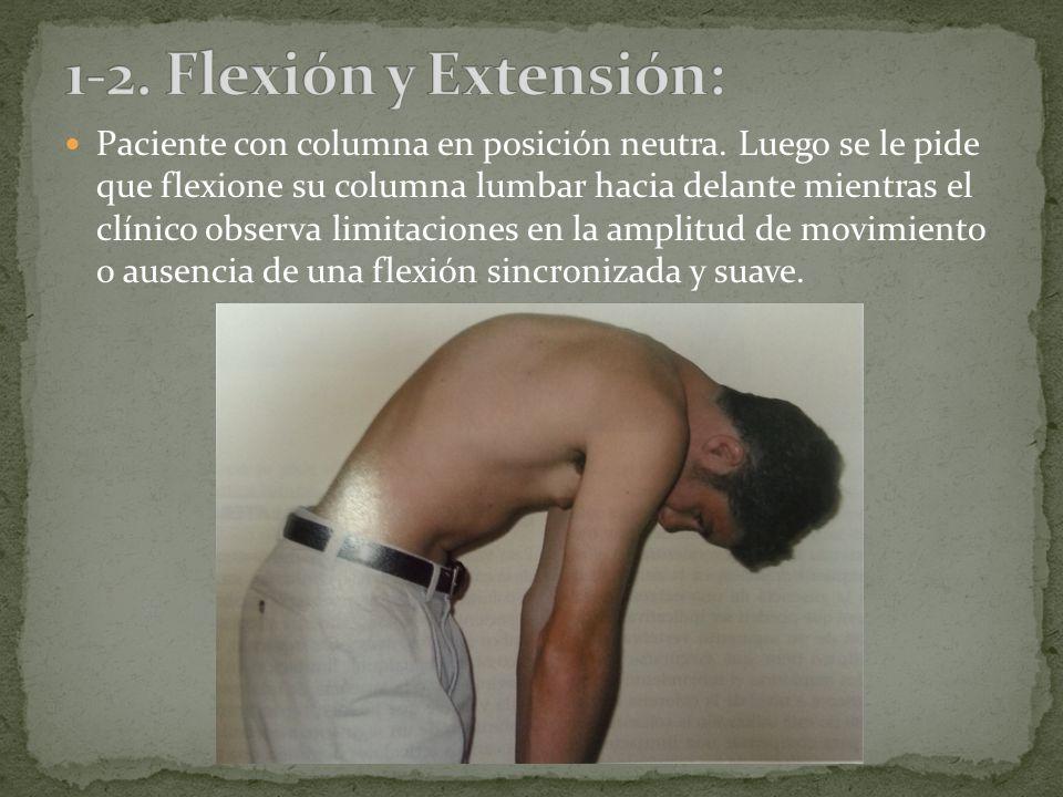 1-2. Flexión y Extensión:
