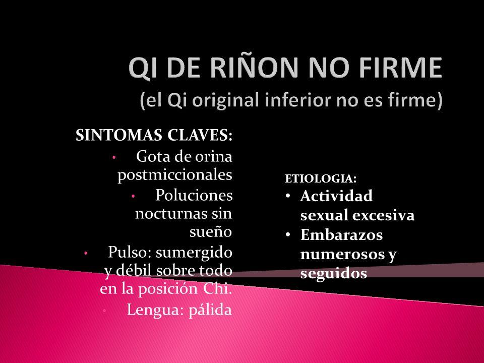QI DE RIÑON NO FIRME (el Qi original inferior no es firme)