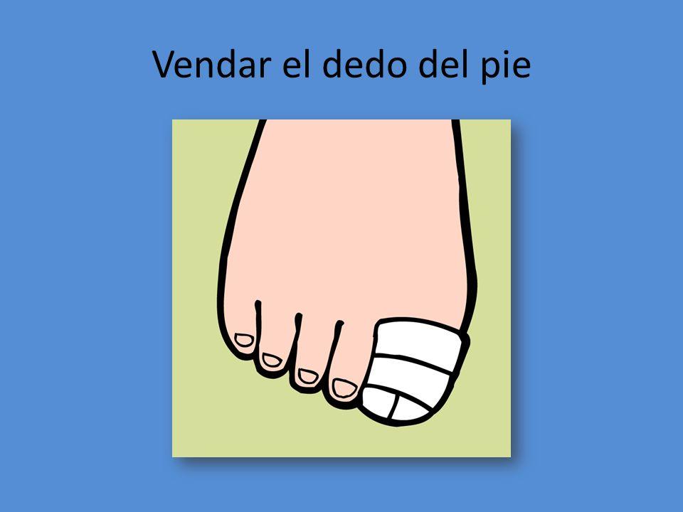 Vendar el dedo del pie