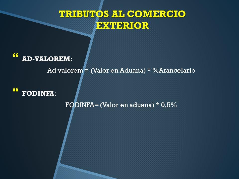TRIBUTOS AL COMERCIO EXTERIOR