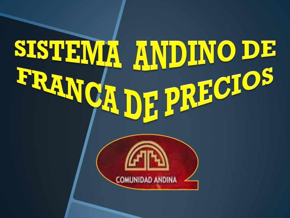 SISTEMA ANDINO DE FRANCA DE PRECIOS