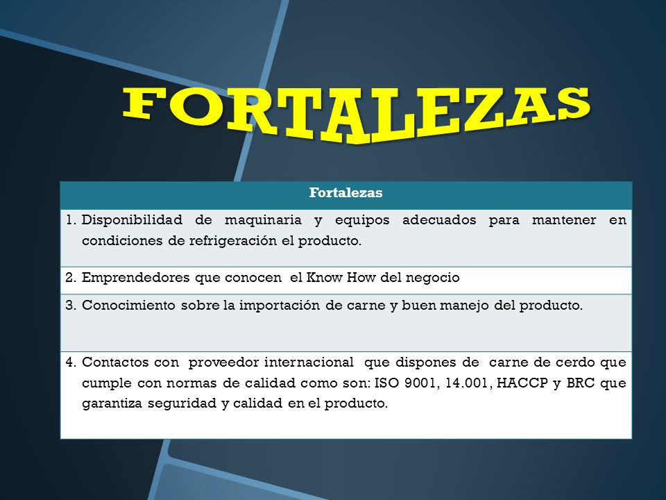 FORTALEZAS Fortalezas
