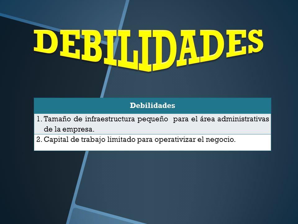 DEBILIDADES Debilidades