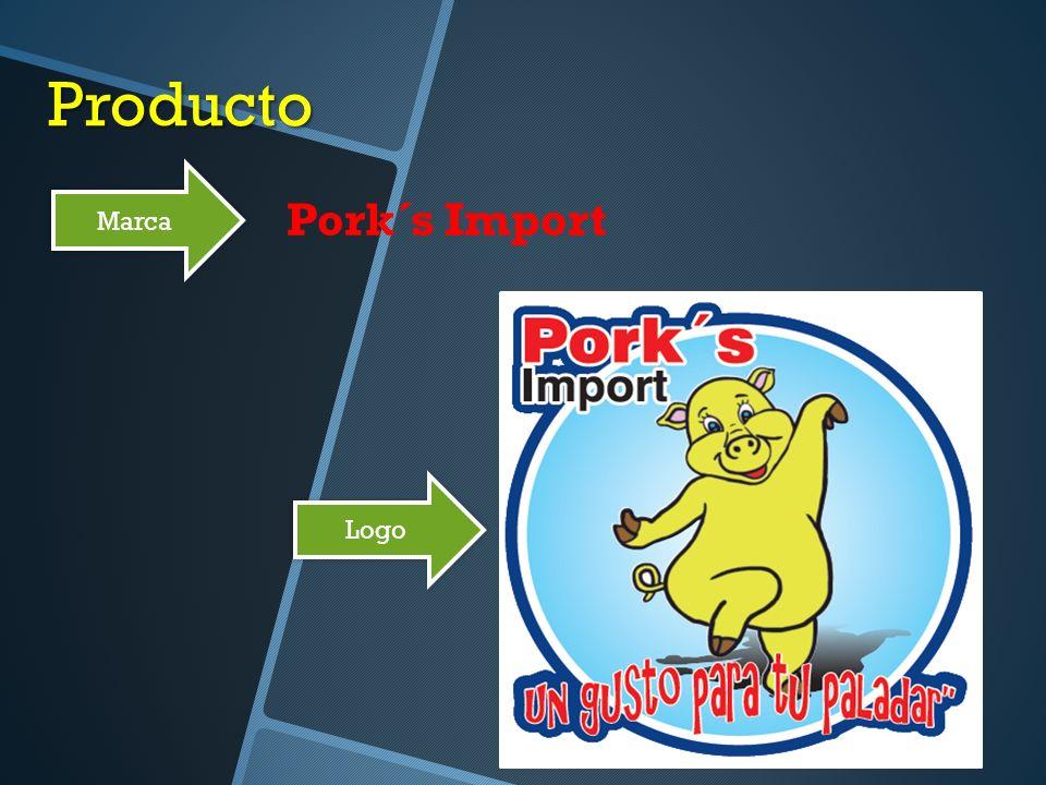 Producto Marca Pork´s Import Logo