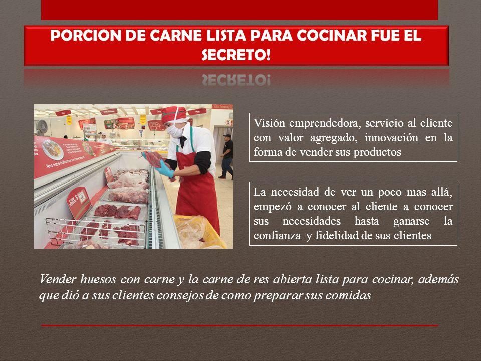 PORCION DE CARNE LISTA PARA COCINAR FUE EL SECRETO!