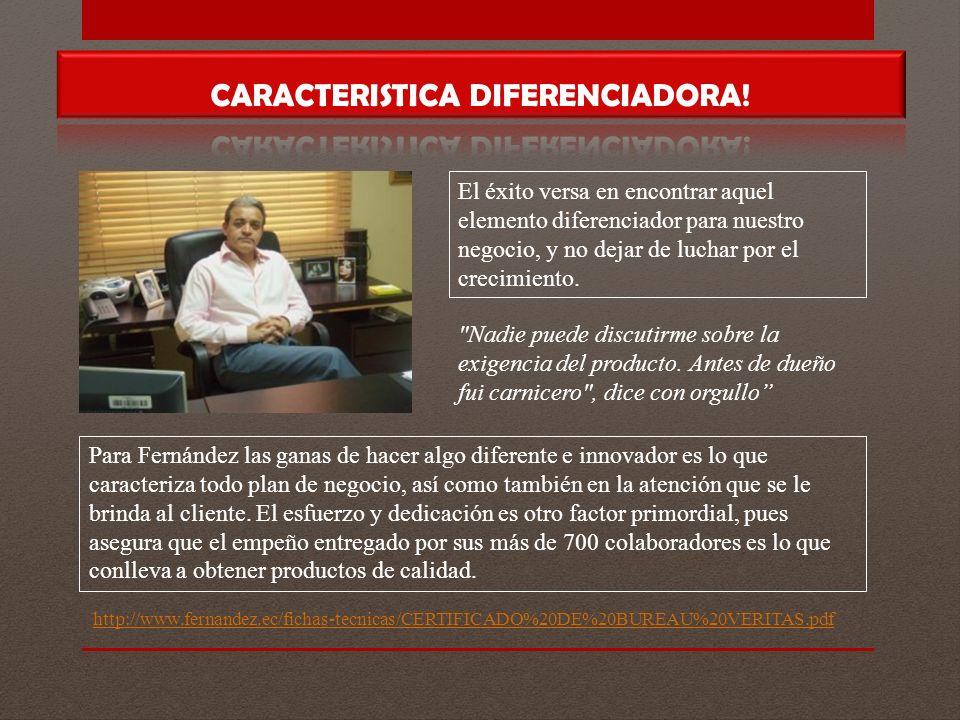 CARACTERISTICA DIFERENCIADORA!