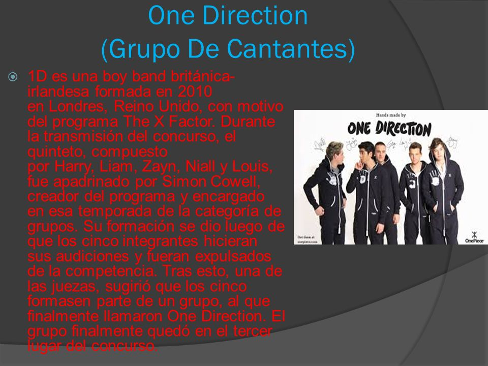 One Direction (Grupo De Cantantes)