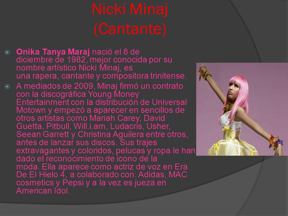 Nicki Minaj (Cantante)