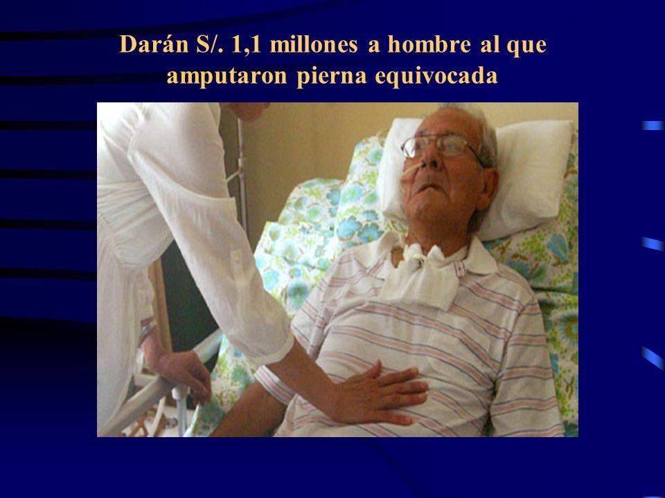 Darán S/. 1,1 millones a hombre al que amputaron pierna equivocada