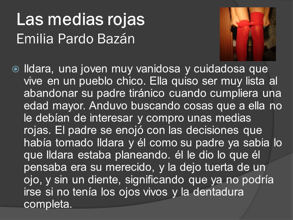 Las medias rojas Emilia Pardo Bazán