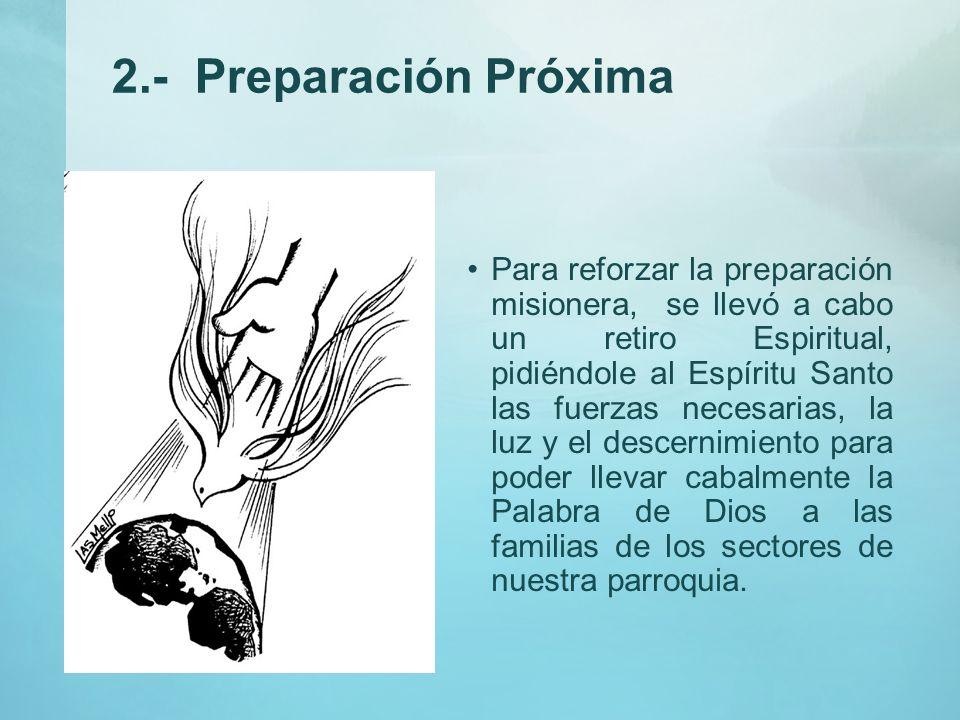 2.- Preparación Próxima