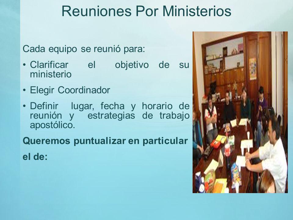 Reuniones Por Ministerios