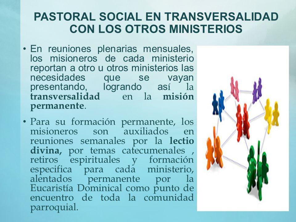 PASTORAL SOCIAL EN TRANSVERSALIDAD CON LOS OTROS MINISTERIOS