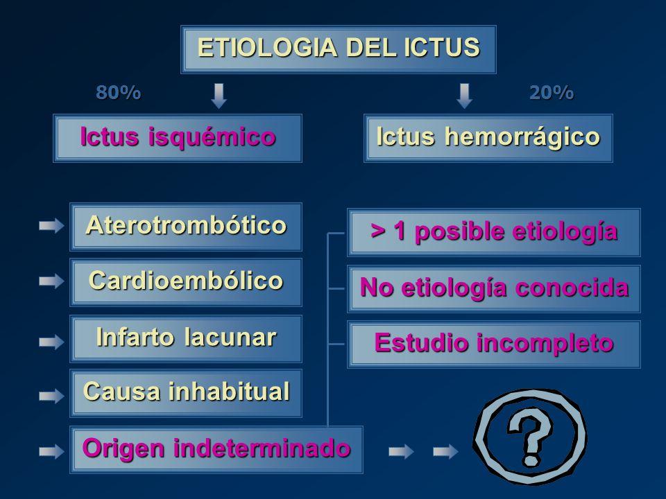 > 1 posible etiología