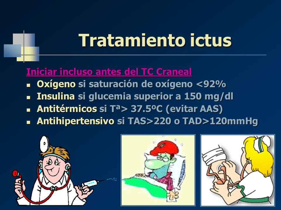 Tratamiento ictus Iniciar incluso antes del TC Craneal