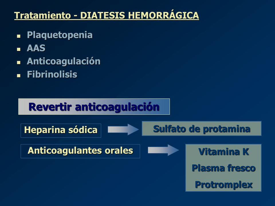 Revertir anticoagulación Anticoagulantes orales