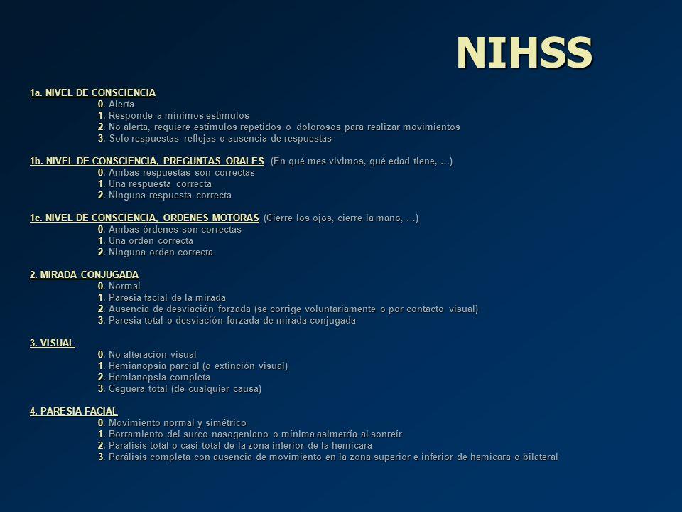 NIHSS 1a. NIVEL DE CONSCIENCIA 0. Alerta